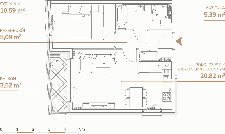 Mieszkanie B1.2.1