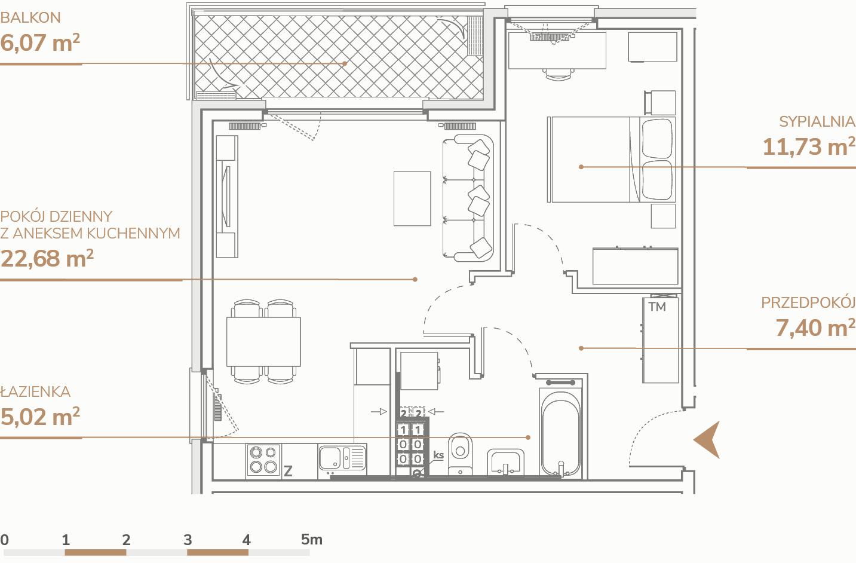 Mieszkanie B2.2.2